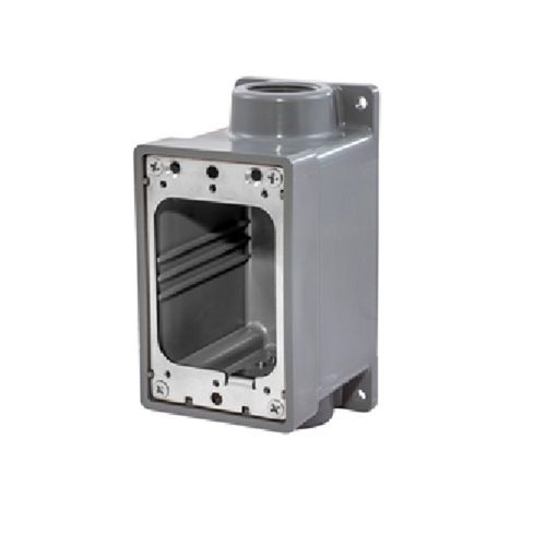 "Hubbell Watertight FD Box, 3/4"", Gray für Inlets und Outlets"
