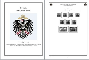 Stamp Album Pages German Occupation Areas 14-18 CD in WORD PDF (English) for Self-Printing