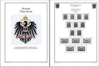 Stamp Album Pages German Votes Areas CD in WORD PDF (English) for Self-Printing