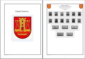 Stamp Covers Pages Memel Territory with Picture in WORD/PDF for Self-Printing