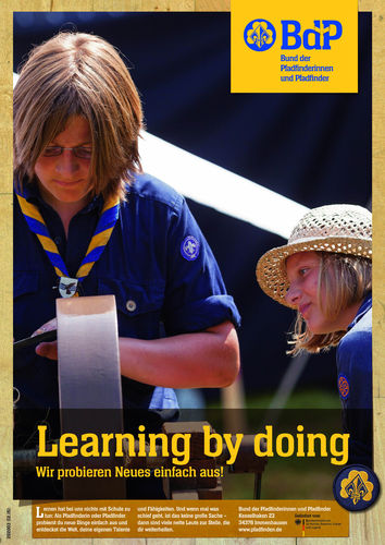 "Poster, ""Learning by doing"""