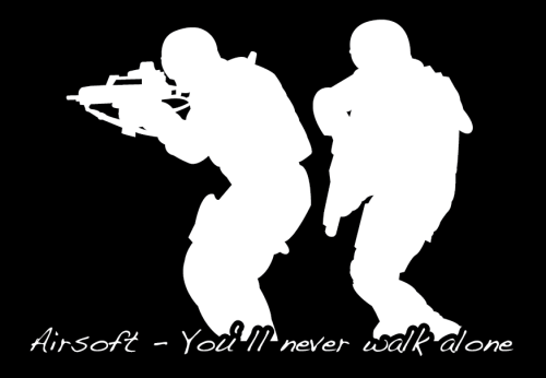 "T-Shirt ""AIRSOFT - You ll never walk alone"""