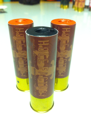 "Aufkleber ""Hole Factory - brown"" für Shotgun-Shell 3x10 Rounds"