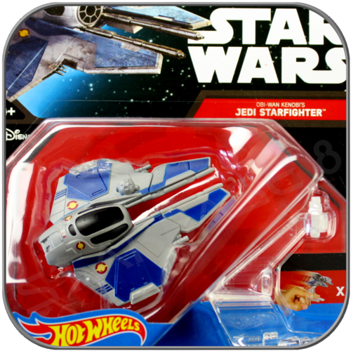 OBI WAN'S JEDI STARFIGHTER - STAR WARS HOT WHEELS METALL MODELL