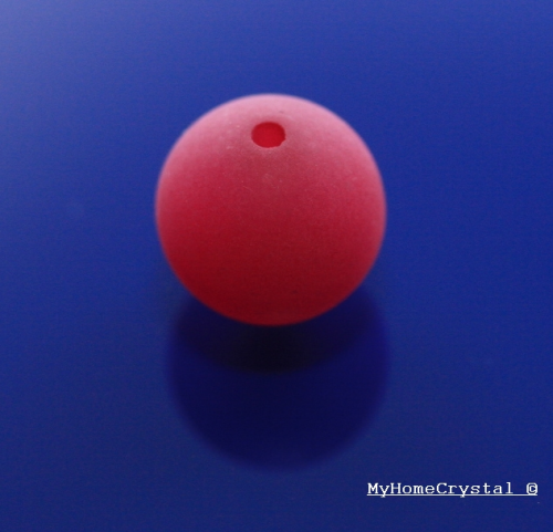 Polarisperle fuchsia matt 8mm