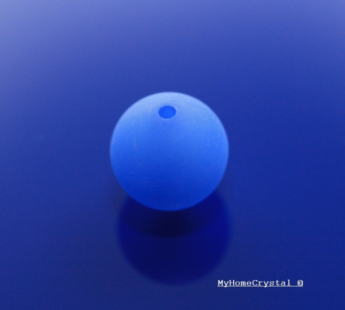 Polarisperle blau matt 8mm