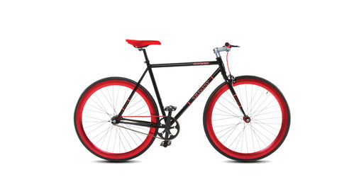 Troy Fixie Speed schwarz-rot fix oder freewheel