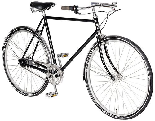 "28"" Herren Design Fitness Rad Johnny Loco Charlie 7 Gang Shimano Nexus schwarz"