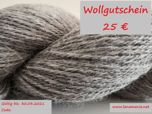 Yarn Voucher 25 € Download & Selfprint