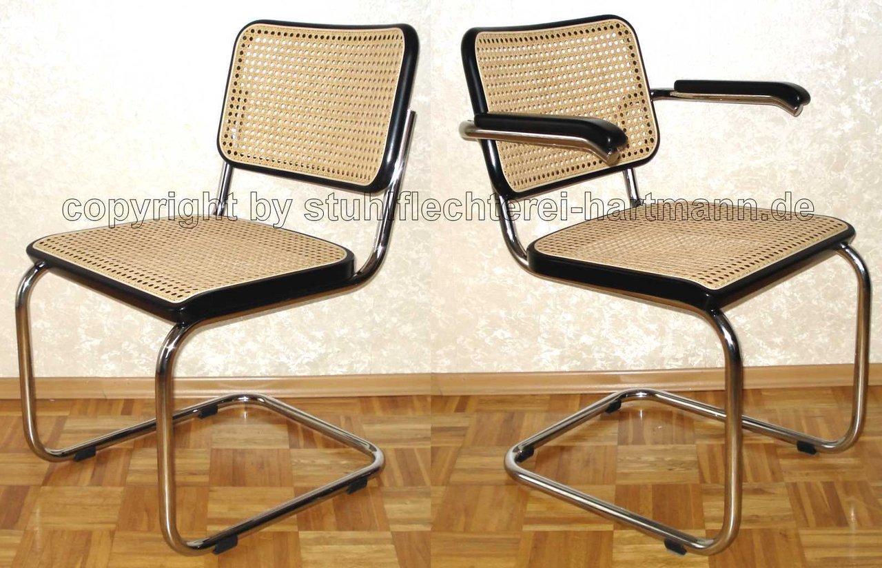 geflechterneuerung der sitzfl che eines stahlrohr freischwinger thonet s 32 oder s 64 sowie. Black Bedroom Furniture Sets. Home Design Ideas