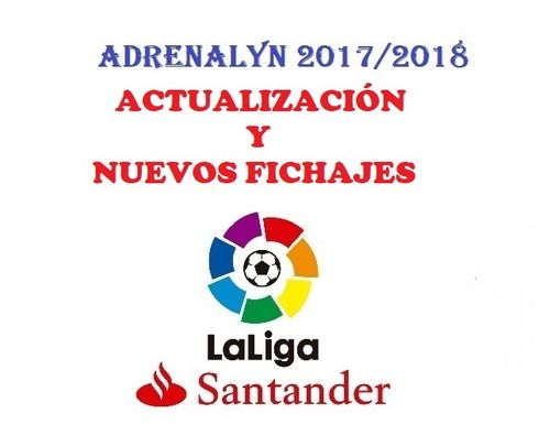 Set TOP FICHAJES ACTUALIZACIÓN Adrenalyn 2017 2018 de Panini