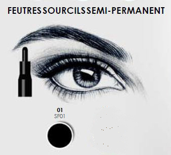 FEUTRES SOURCILS SEMI-PERMANENT NOIR FASHION MAKE UP