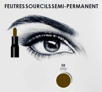FEUTRES SOURCILS SEMI-PERMANENT BRUN FASHION MAKE UP