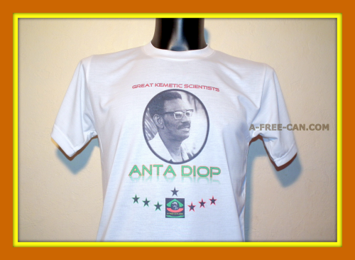 T-SHIRT, Unisex: ANTA DIOP (Great Kemetic Scientists by A-FREE-CAN)