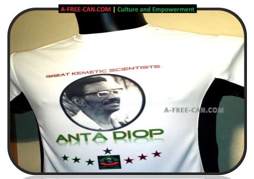 ANTA DIOP (Great Kemetic Scientists by A-FREE-CAN (T-SHIRT BICOLOR, Unisex)