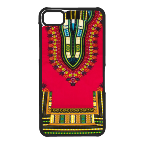 "Coque / Phonecase : ""DASHIKI rouge 1"" By A-FREE-CAN.COM (pour / for BLACKBERRY Z10)"