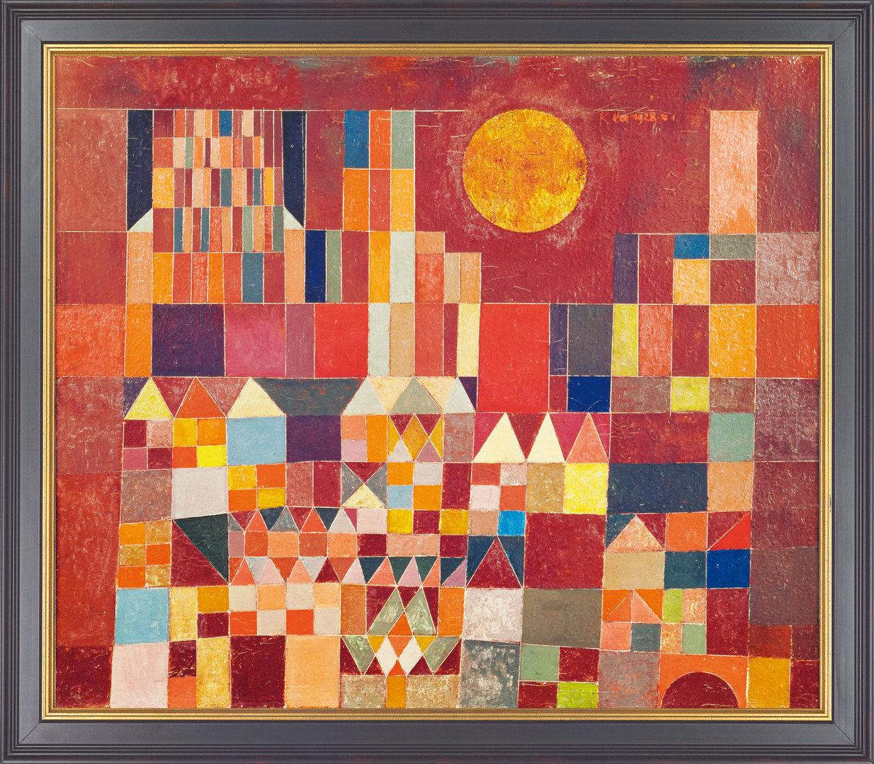 Paul Klee: Bild Burg und Sonne (1928), gerahmt - Barlach