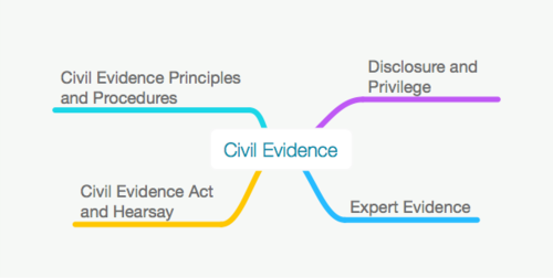ALL BAR COURSE CIVIL EVIDENCE MAPS