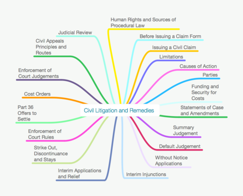 ALL BPTC CIVIL LITIGATION MIND MAPS