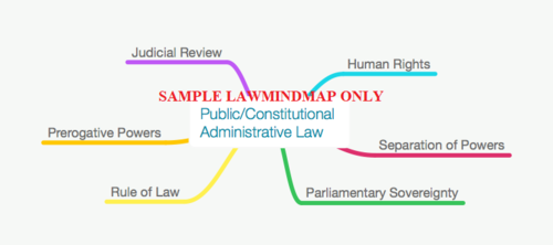 70% OFF Public / Constitutional & Administrative Full Size Sample Law Mind Map for LLB/GDL/GE/CILEX