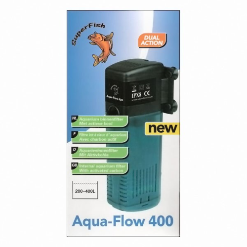internal power filters aquarium fish tank Aquaflow 400 lt