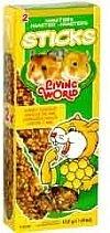 Living World Hamster Sticks, honey Flavour, 112 g (4 oz), 2-pack