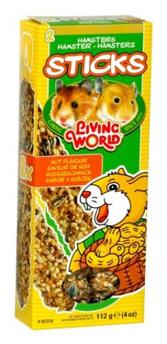 Living World Hamster Sticks, Nut Flavour, 112 g (4 oz), 2-pack