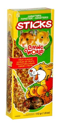 Living World Hamster Sticks, fruit Flavour, 112 g (4 oz), 2-pack