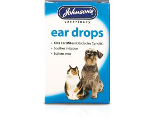 Johnson's ear drops kills ear mites