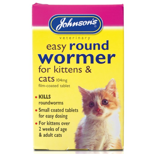 Johnson's easy round wormer for kittens and cats over 2 weeks of age