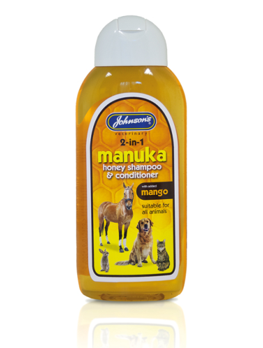 Johnson's manuka shampoo 2-in-1 honey shampoo and conditioner suitable for all animals 200ml