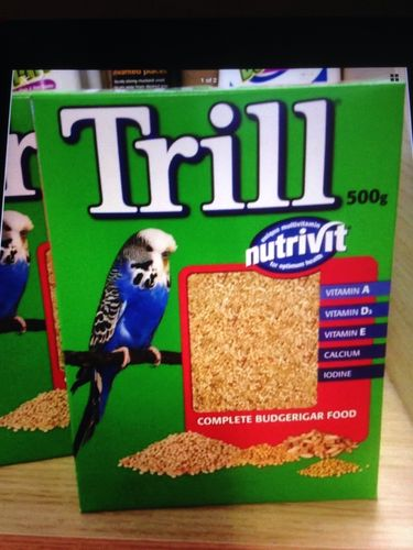Trill budgie food x 3 boxs 500g budgie seed