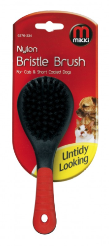 Nikki nylon bristle brush for cats and short coated dogs