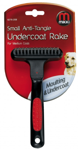 Mikki undercoat rake for thick coats dog