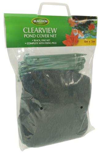 Blagdon Clearview Fine Pond Net Black 3x4m  Net Black