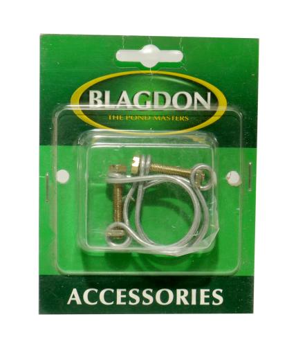 "Blagdon Double Wire Hose Clip 1"" 2pk"