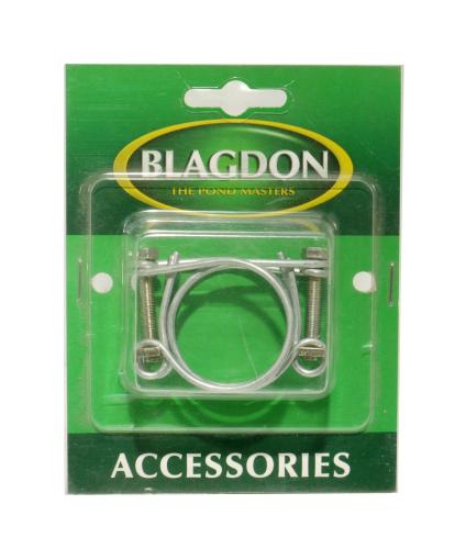 "Blagdon Double Wire Hose Clip 1.25"" 2pk"