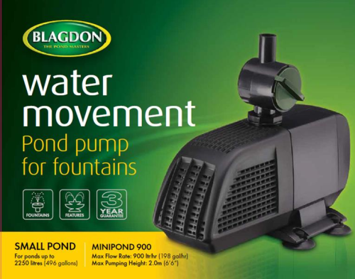 Blagdon Minipond 900 Pump 900 L.p.h