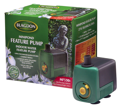 Blagdon Minipond Feature Pump 550 Indoor 3m