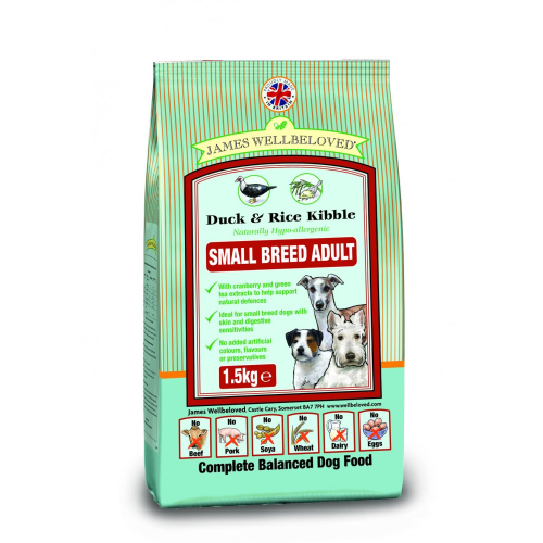James wellbeloved Duck and Rice adult small breed  1.5kg
