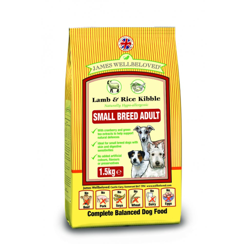 James wellbeloved Lamb and Rice adult small breed  1.5kg