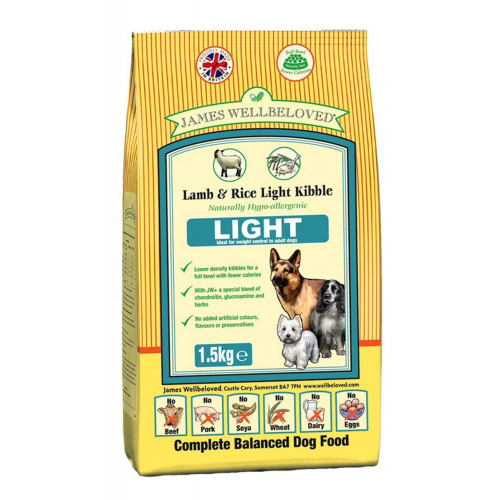 James wellbeloved light lamb and rice 1.5kg