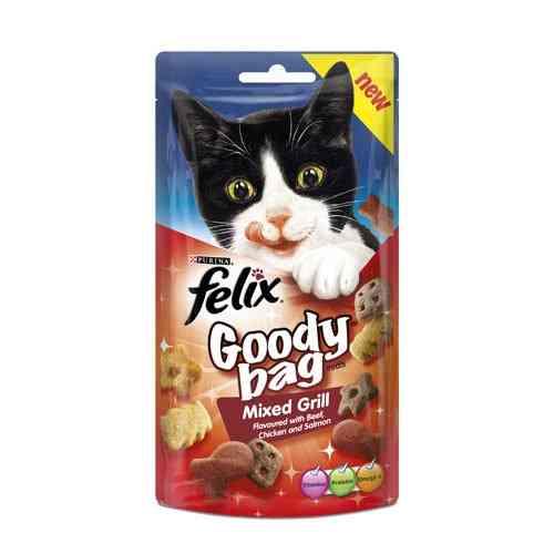 Felix Goody Bag Mixed Grill Cat Treats - 60G