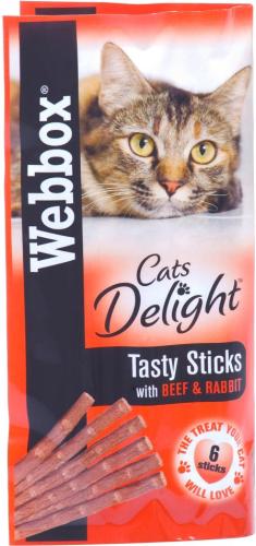 Web box tasty sticks with beef and rabbit 6   sticks 30g