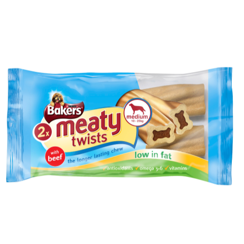 Bakers jumbo meaty twists with beef for large over 25kg dogs