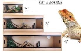 """Quality Reptile Vivarium 48""""-15""""-16"""""""