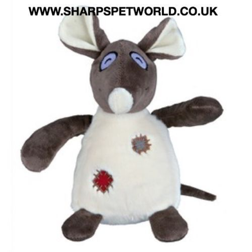 Dog Toy Fluffy Rat Plush Squeaky , Trixie